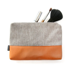 Small makeup bag vegan pouch