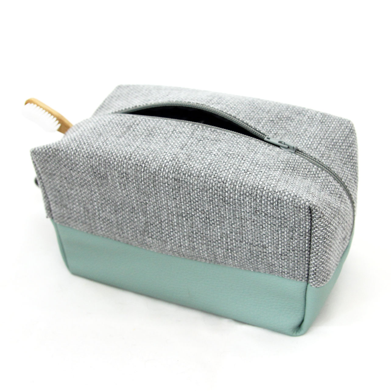 Toiletry bag for women mint angle