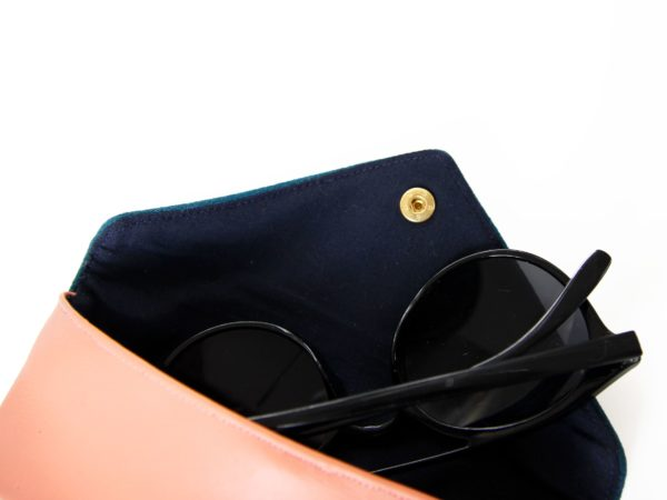 Eyeglass case sunglasses case vegan leather