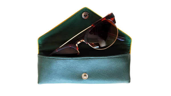 Sunglasses case designer glasses case inside