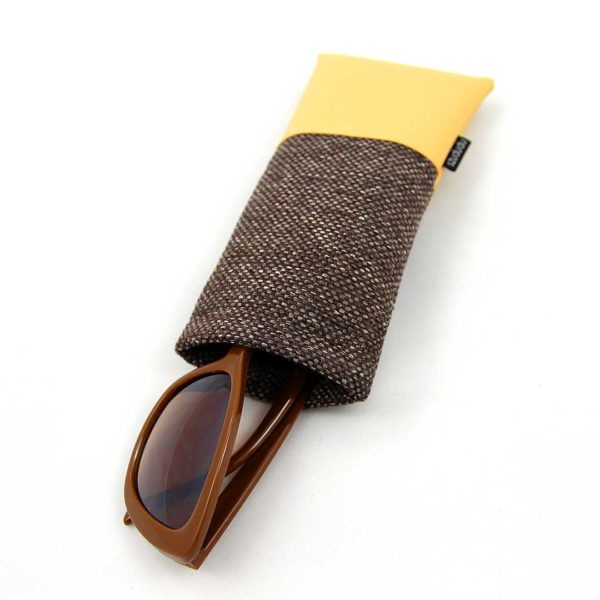 Eyeglass case yellow