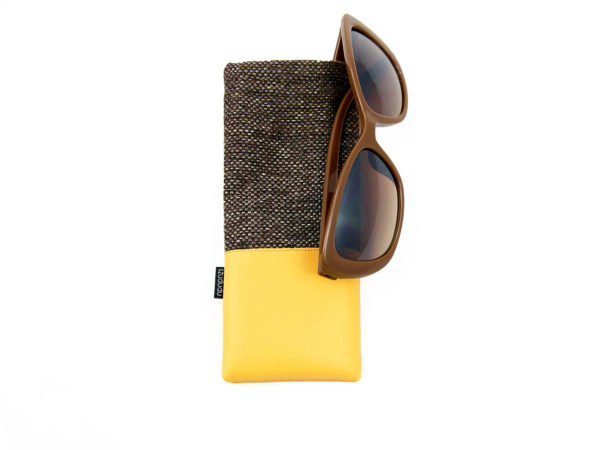 Eyeglass case eyeglass holder yellow
