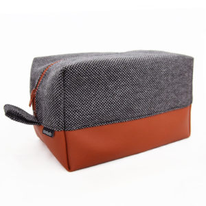 Travel toiletry bag brown black
