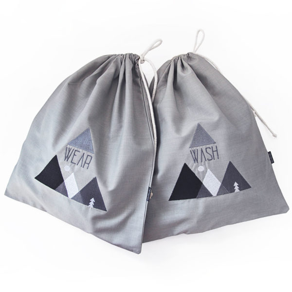 Travel laundry bags, underwear organizer bags